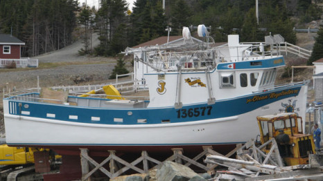 This vessel, Ocean Negotiator, ran into trouble on Tuesday 42 nautical miles northeast of St. John's. (Courtesy Navigator Magazine/TriNav Marine Brokerage)