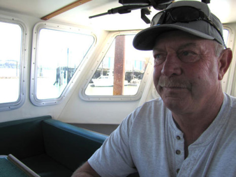 algae bloom west coast Tom Petersen sitting idly in his 50-foot boat