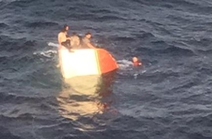shippigan-rescue This photo of the sinking fishing vessel was captured at about 6 a.m. Sunday
