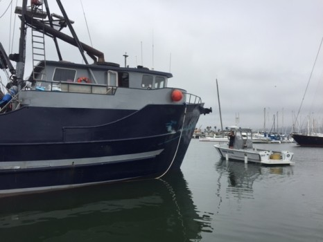 fishing vessel named Ferrigno Boy dock crash ventura harbor