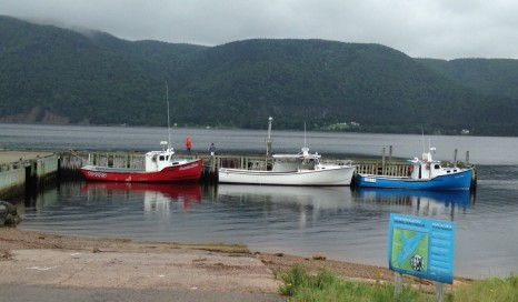 Cape Breton Island including Englishtown where people depend on the fishery for their livelihood.
