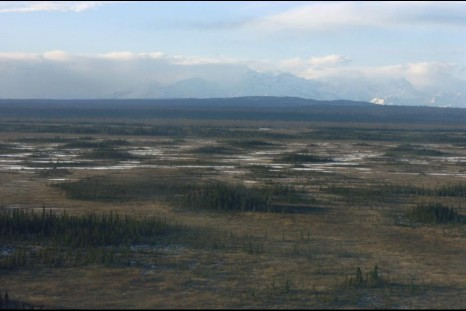 Aerial view of the proposed Chuitna Coal Project near Beluga on the west side of the Cook Inlet.
