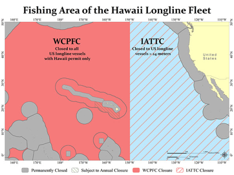 fishing area hawaiian long line fleet