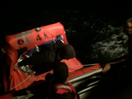 Coast Guard rescues 2 fishermen after boat sinks