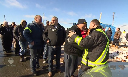The Heat is On! Fishermen move protest to FFAW building after Richard Gillett addressed supporters outside DFO