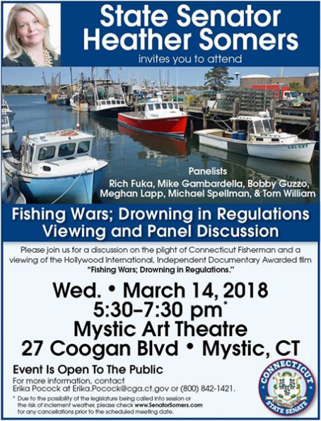 Fishing wars drowning in regulations viewing and panel for Fishing license ct