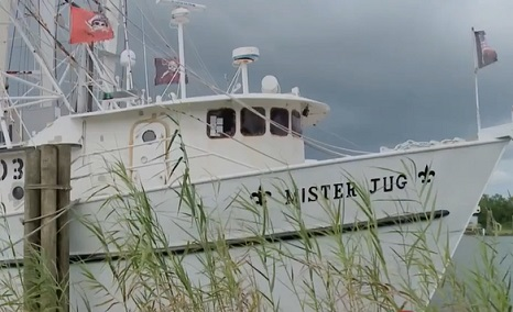 A longtime shrimper says he plans to ride out Hurricane Sally