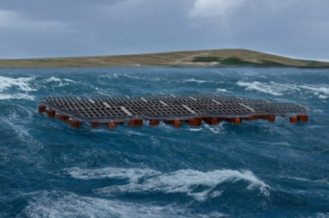 Testing Concepts for Floating Offshore Solar Panels