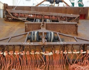 War Cry Scallop dredge