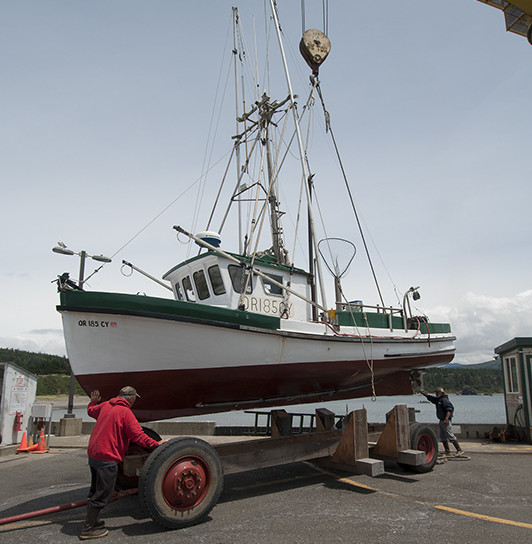 FV Irish Rose, built Columbia River 1946, been in Port Orford fo