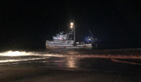 3 Fishermen Rescued After Vessel Washes Ashore In Ventura