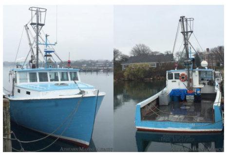 42 ft wood lobster boat