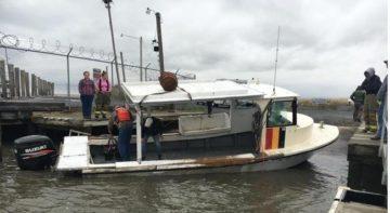 overturned boat delaware bay