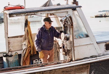 Lobsterman John Olson has been on the water for nine decades, and he's still working