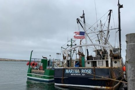 Menemsha goes old school on a Saturday morning. 500 pounds of scallops sell in two hours off F/V Martha Rose